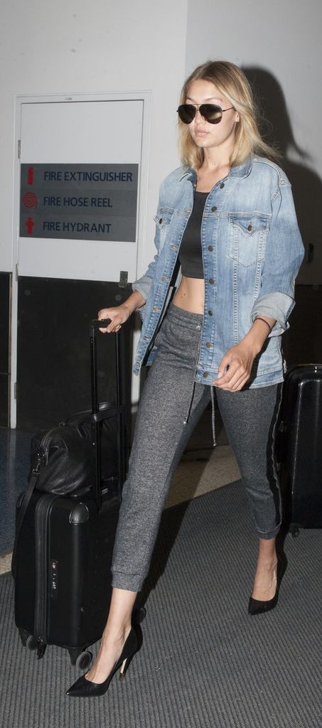 Gigi Hadid just changed the airport style game with her casual look featuring a sexy pair of sweats.