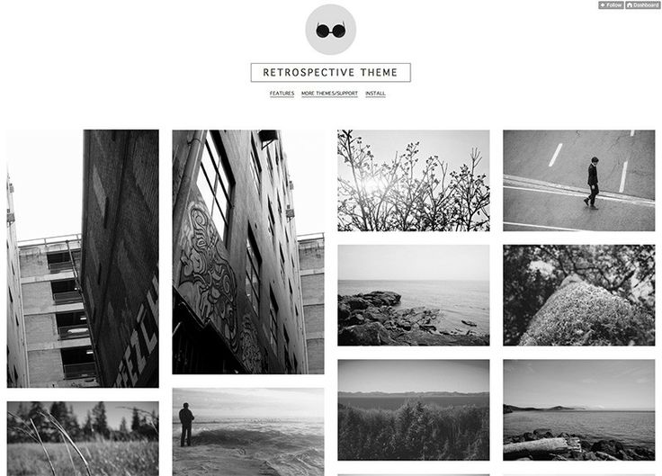 Retrospective free tumblr theme