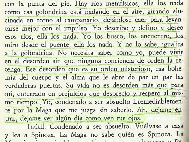 """fragmento de """"Rayuela"""" de Julio Cortázar. La Maga"""