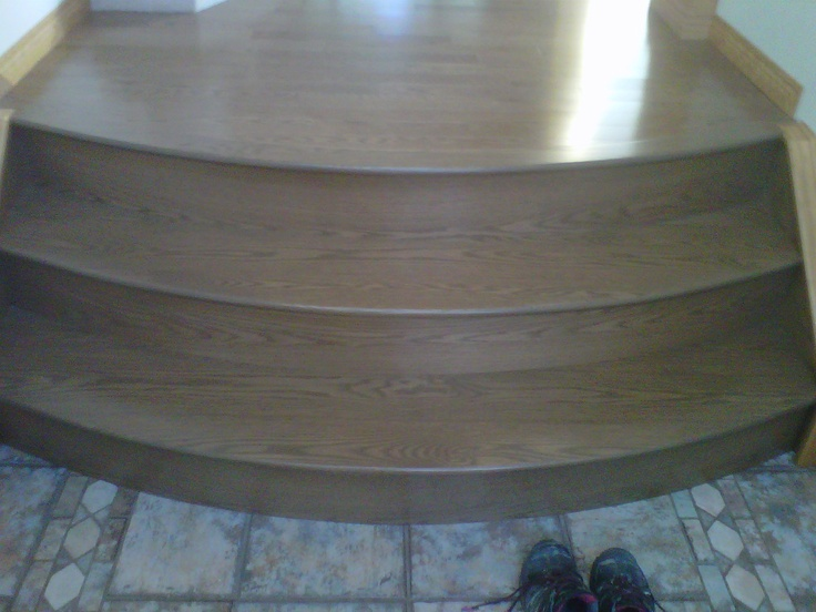 Custom milled and prefinished stair treads by smithbrosfloors.com