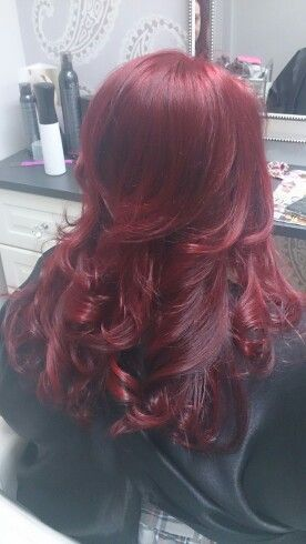 Keune lift and colour ruby red