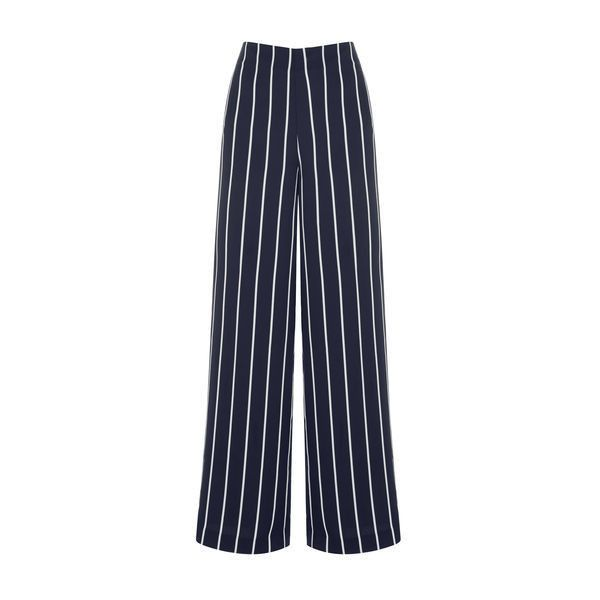 Warehouse Warehouse Stripe Trousers Size 6 ($69) ❤ liked on Polyvore featuring pants, black stripe, high rise trousers, striped trousers, high waisted trousers, high-waisted trousers and stripe pants