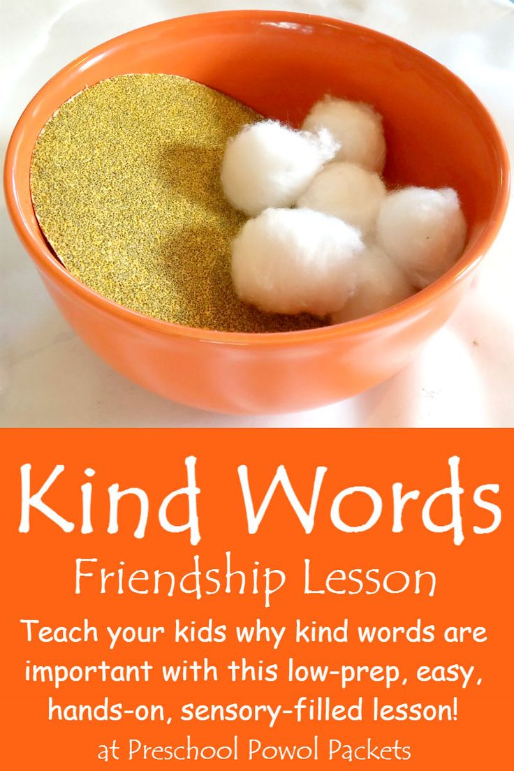 Do you need a hands-on, sensory lesson to teach about kind words? You will love this! Perfect for preschool, kindergarten, and even older kids! Also part of the Virtual Book Club for Kids!
