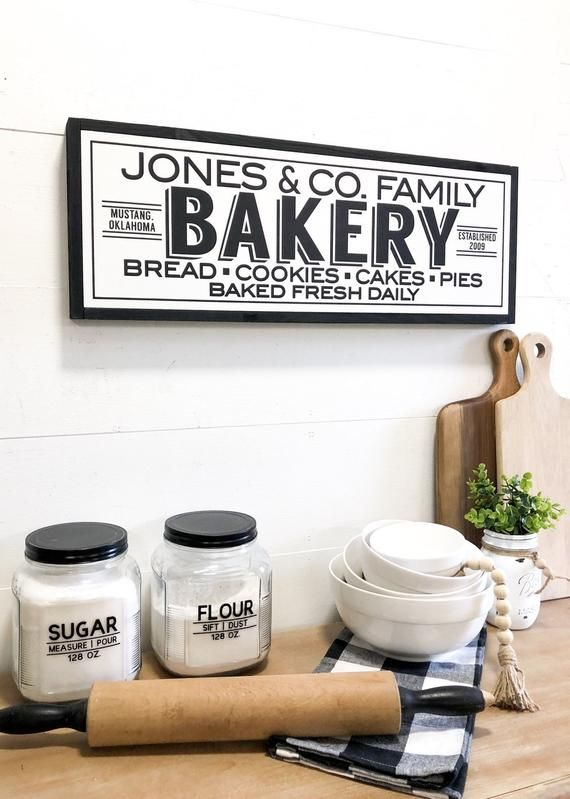 Bakery Sign Kitchen Bakery Sign Farmhouse Bakery Sign Etsy In 2020 Bakery Sign Kitchen Signs Farmhouse Kitchen Signs