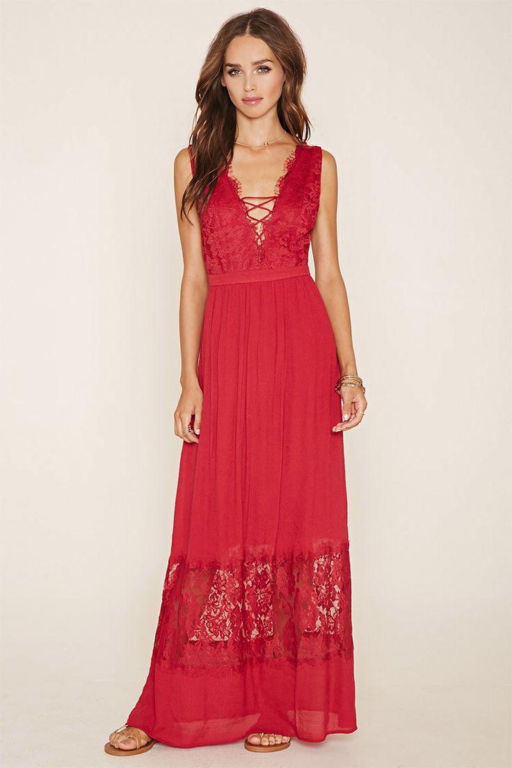 Lace-Paneled Maxi Dress $27.90