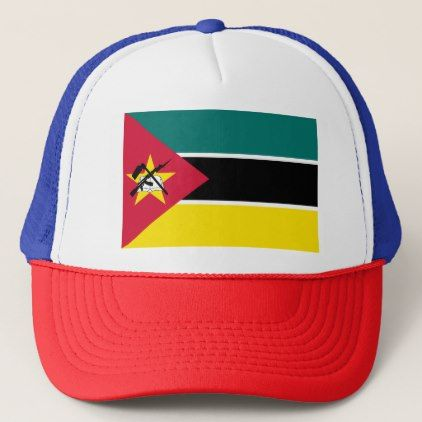 Mozambique Flag Trucker Hat - accessories accessory gift idea stylish unique custom