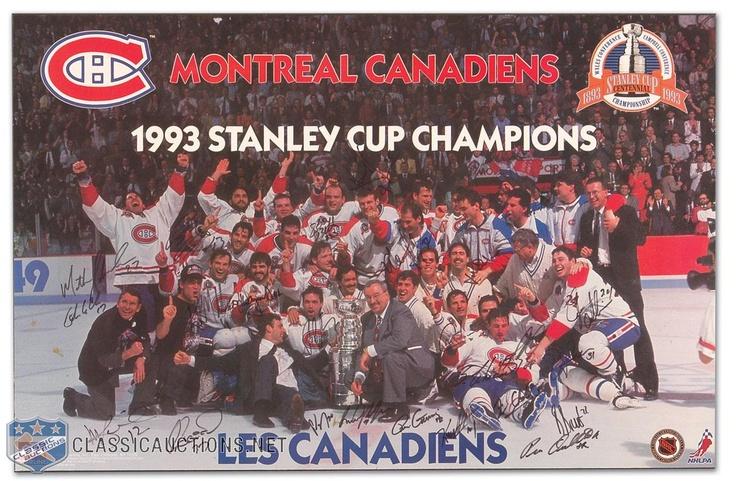Victoire de la coupe Stanley 1993 par le Canadien de Montréal