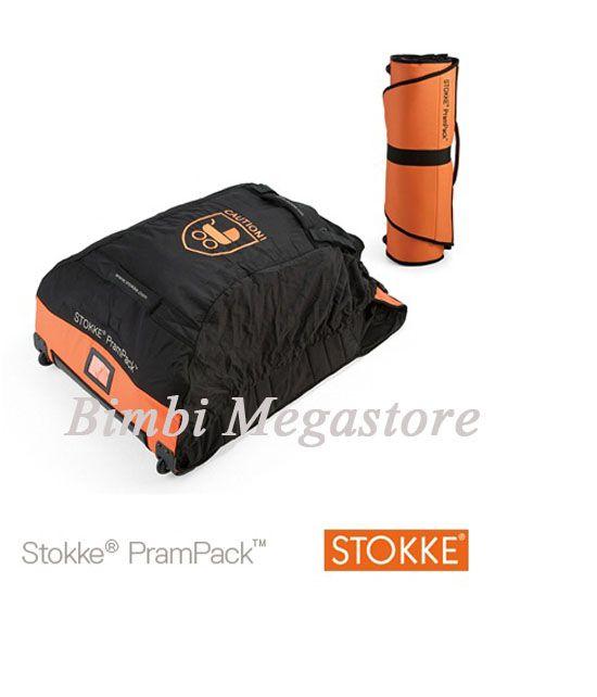 Pram pack stokke xplory borsa da viaggio per il passeggino colore arancione - Bimbi Megastore #stokke @stokkebaby