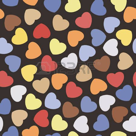 Seamless pattern with hearts. Romantic texture. Background with hearts. Valentines day, wedding, baby shower graphic element. Vector illustration.