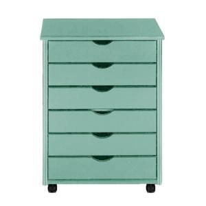 Home Decorators Collection, Stanton 26 in. H Blue 6-Drawer Wide Storage Cart, 0200410310 at The Home Depot - Mobile