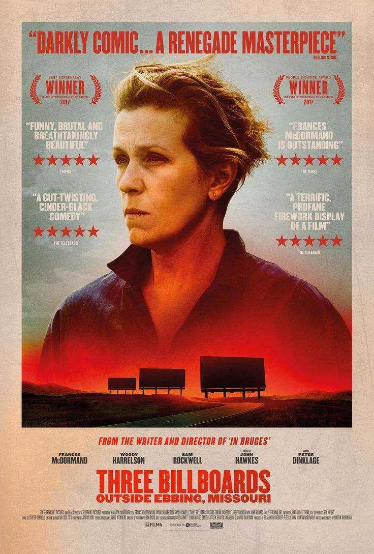 Check out the new posters and trailer for Martin McDonagh's Three Billboards Outside Ebbing, Missouri | Live for Films