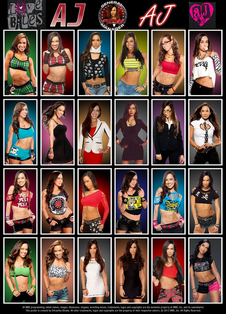WWE AJ Lee Poster by Chirantha on DeviantArt