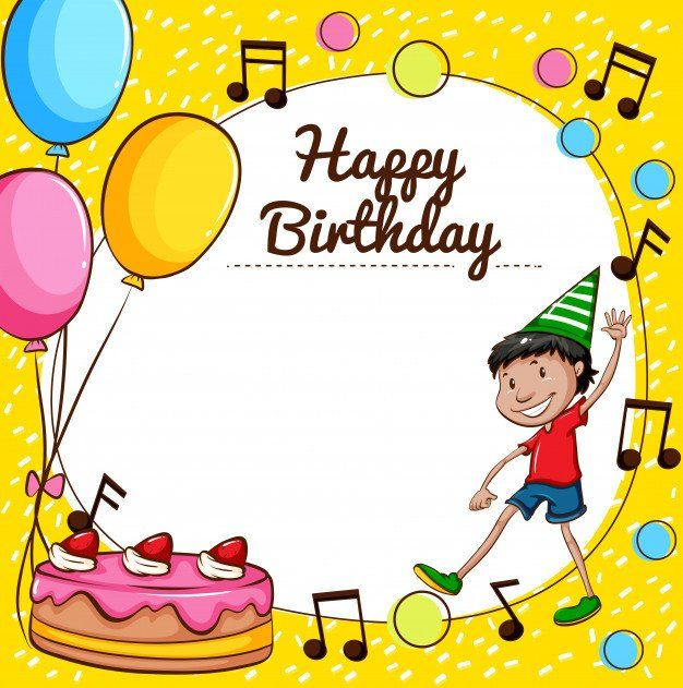 Kids Birthday Card Template New Happy Birthday Card Template Vector Happy Birthday Template Birthday Banner Template Birthday Card Template Free