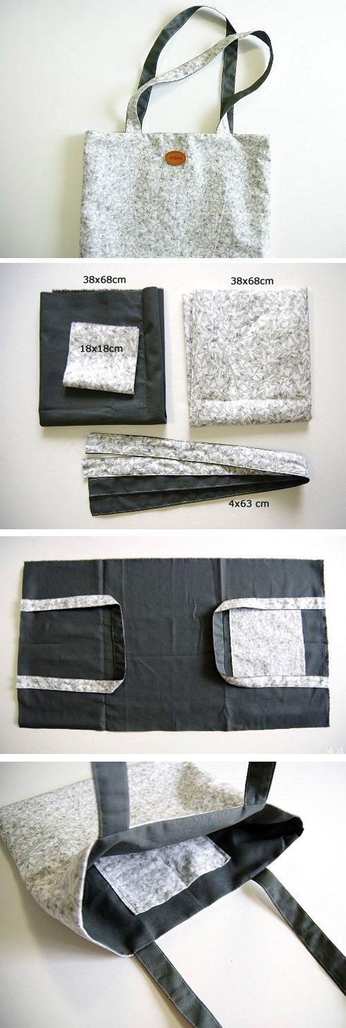 Comment fabriquer un sac à provisions en tissu www.handmadiya.co …