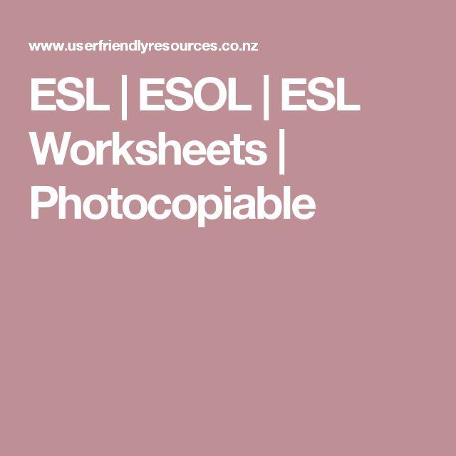 ESL   ESOL   ESL Worksheets   Photocopiable