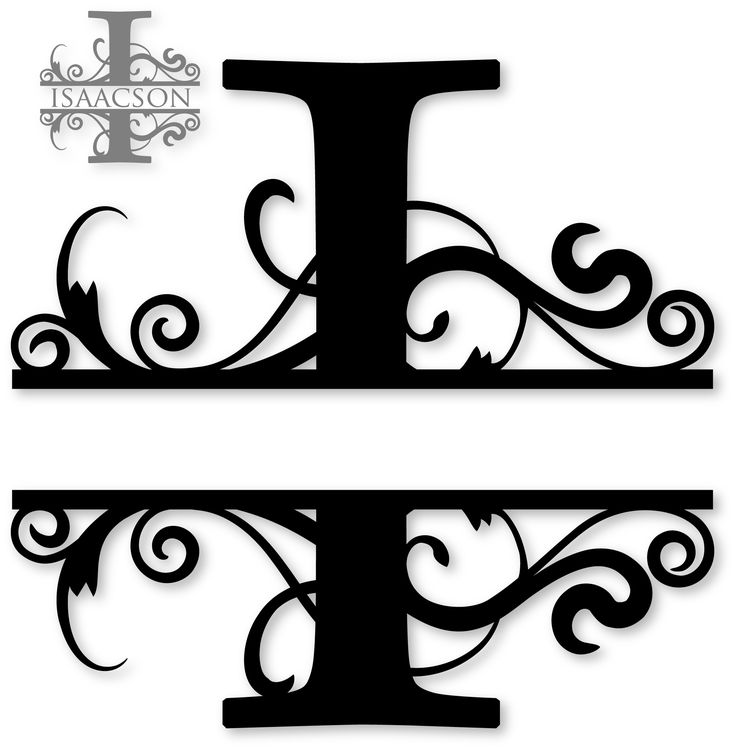 u0026quot i u0026quot  split monogram