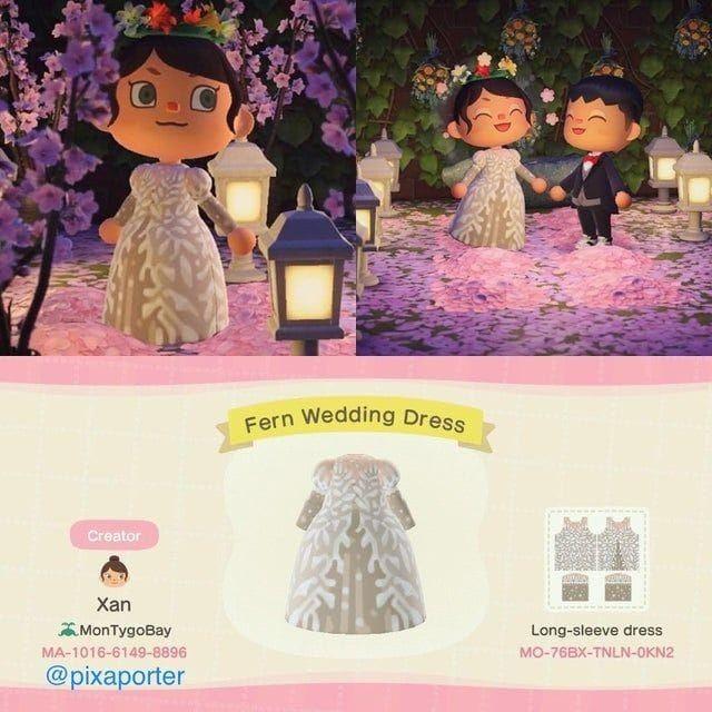 Acnh Wedding Dress Animal Crossing New Animal Crossing Animal Crossing Qr
