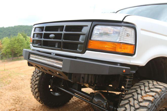 1995 Ford Bronco Custom Front Bumper Rigid 30 Inch Lightbar