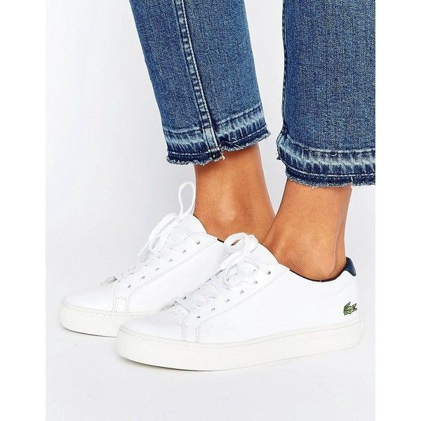 Lacoste L.12.12 Premium Retro Trainers (€79) ❤ liked on Polyvore featuring shoes, sneakers, white, tennis trainer, canvas slip on shoes, slip on sneakers, slip on tennis shoes and lacoste sneakers