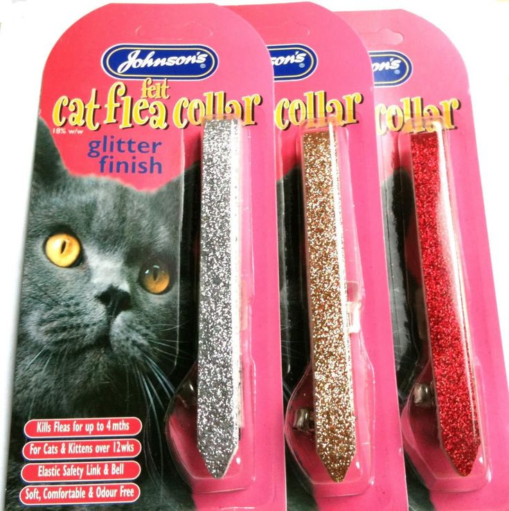 Johnsons Felt Cat Flea Collar Glitter * To view further for this item, visit the image link.