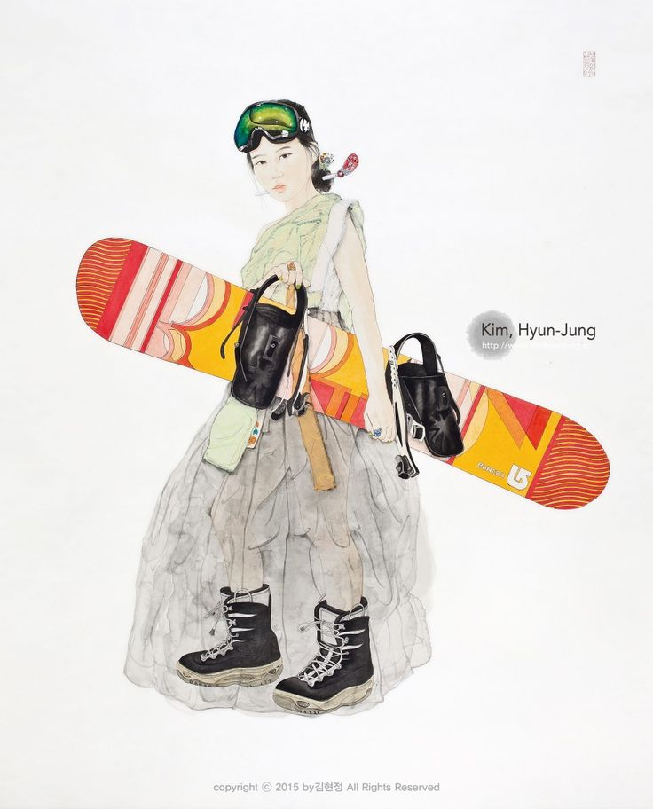 #单板滑雪#滑雪护目镜#冬#滑雪场#韩国画  #东方画  #韩国  #韩服  #作假  #猫かぶりの#東洋画 #韓国画 #金炫廷 #キムヒョンジョン