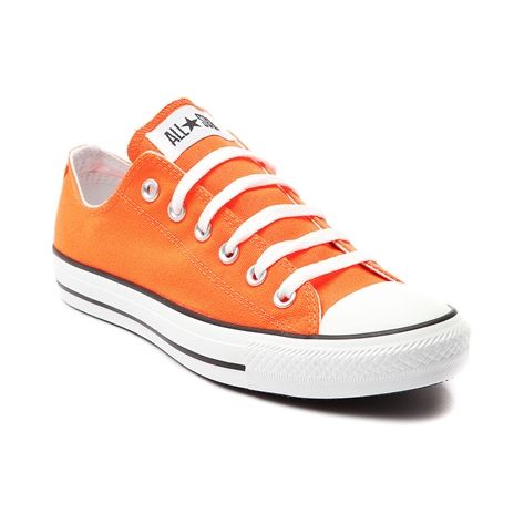 Shop for Converse All Star Lo Sneaker in Bright Orange at Journeys Shoes. Shop today for the hottest brands in mens shoes and womens shoes at Journeys.com.The All Star knows no bounds. From b-ball courts  to punk clubs. From skateparks to school yards. The Converse All Star has come a long way, and its ready to take you even further. The original Old School never lets up. Bright orange canvas upper. Nuff said. Available exclusively at Journeys!Please note that this shoe runs a half size…