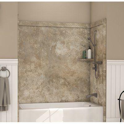 "flexstone elite tub surround 60"" h x 60"" w x 32"" d shower"
