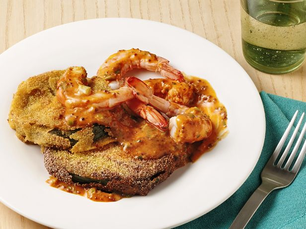 Fried Green Tomatoes With Shrimp Remoulade Recipe : Food Network ...
