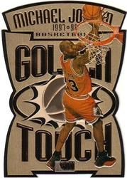Michael Jordan Cards - 97-98 Skybox Golden Touch Card