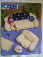 1996 Annie's Fashion Doll Crochet Club Sitting Pretty Pattern