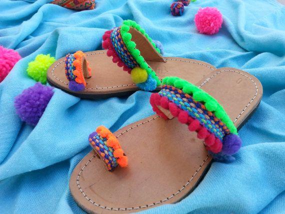 RiRiPoM bambini sandali in pelle sandali sandali greci Boho