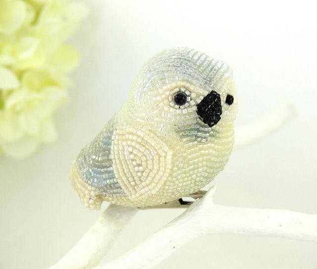 Snowy Owl Beaded Ornament | Flickr: partage de photos!