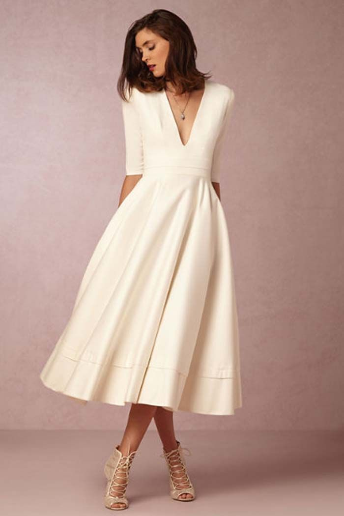 Simple Wedding Gowns for the Minimalist Bride                                                                                                                                                                                 More