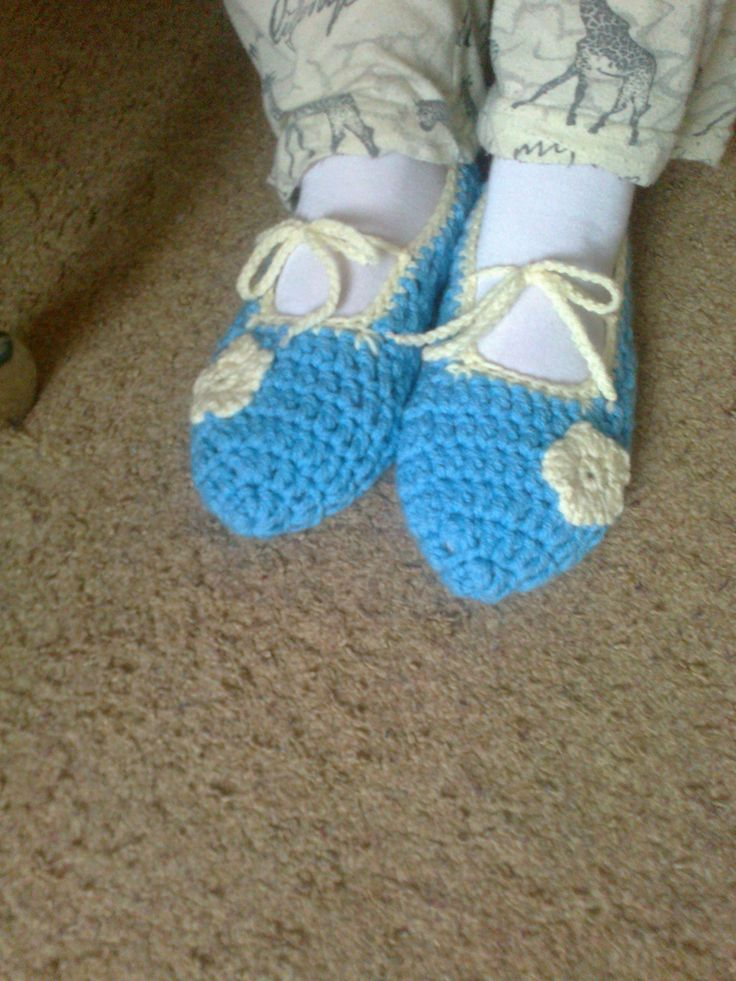 crochet shoes - háčkované balerínky :-)