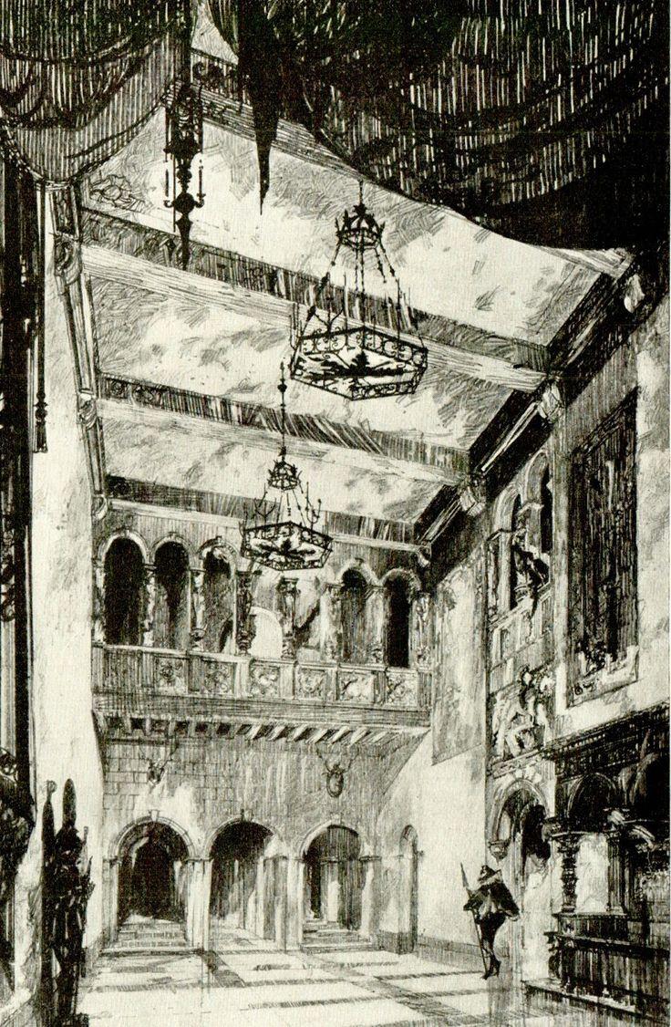 The Great Hall, Residence of Mr. Edson Bradley, Newport, Rhode Island Howard Greenley, Architect, New York