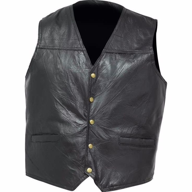 Bikers Sporty Genuine Leather Concealed Carry Vest With Gun Pockets Motorcyclist #GiovanniNavarre