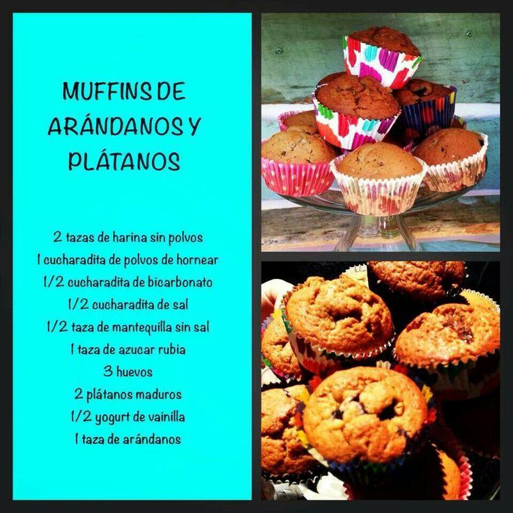 Muffins arandano platano de virginia demaria