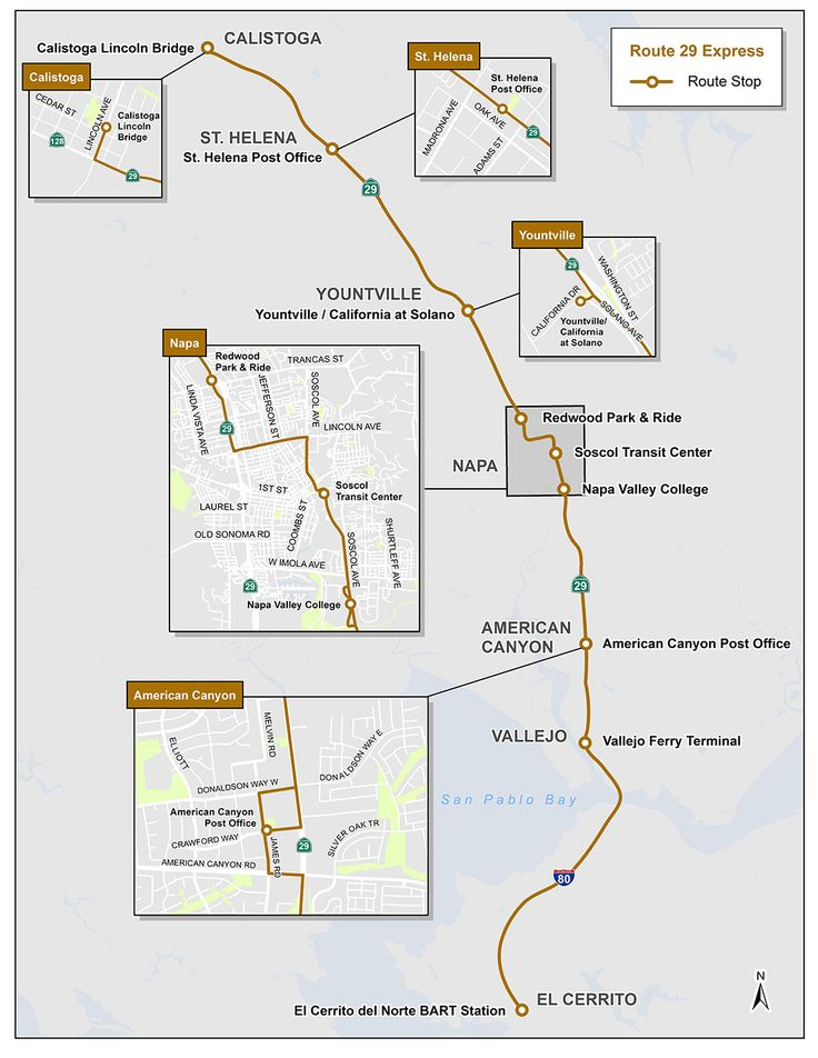 route map for vine transit route number 1