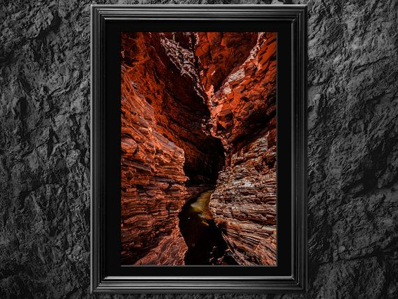 Red Cavern Fine Art Photography Print for wall by NadbradDesigns