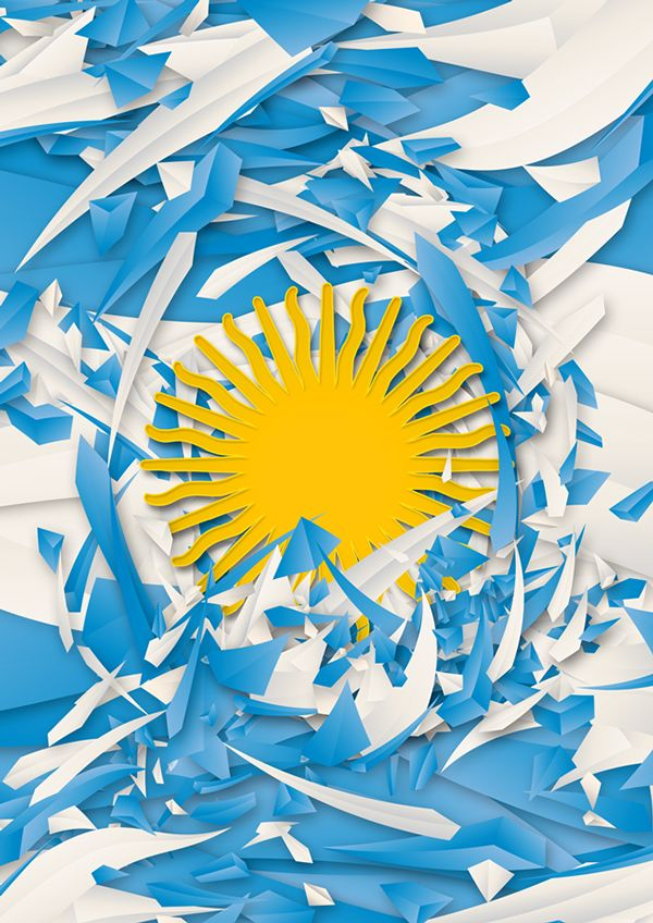 Flags of the World by Danny Ivan, via Behance - The argentinian flag is awesome!