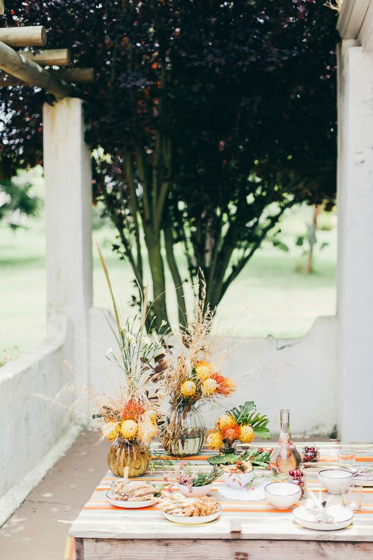 Photos Lisa Poggi @lisapoggi & Gianluca Gasperoni Planning Carolina Casini @tuscandreamwed Design and Floral: @larosacanina @stefaniamorland  @fabianimenswear  @bettysoldi  #hawksmoorhouse @ Yolande Du Tois  @roxannefloquet @weddingconcepts #tuscanymeetsafrica #southafrica #styledshoots #inspirationalshooting #destinationwedding #larosacaninafirenze #weddinginspiration #tuscandreamweddings http://www.stylemepretty.com/destination-weddings/2015/02/27/south-african-welcome-brunch-inspiration/