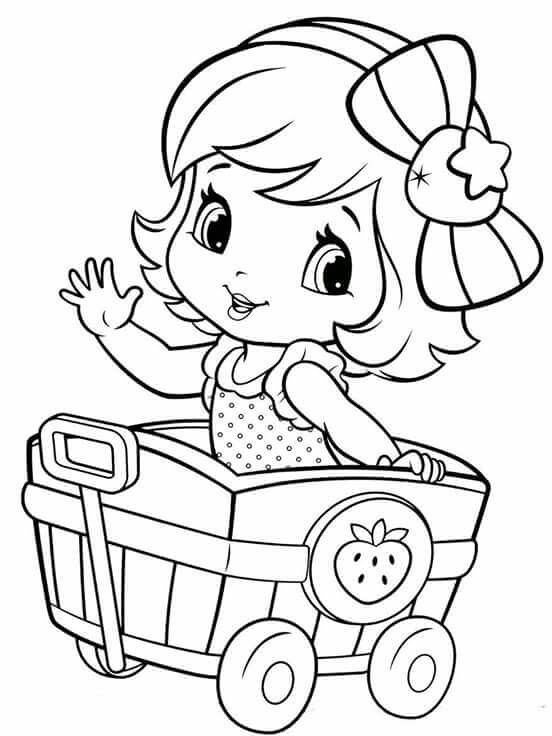 189 best images about Strawberry Shortcake coloring on