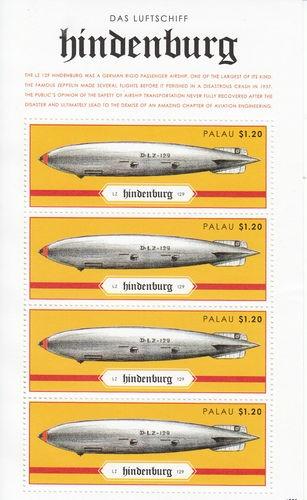 Palau 2012 MNH Hindenburg Disaster 4V Sheetlet Zeppelin DAS Luftshiff Aviation | eBay