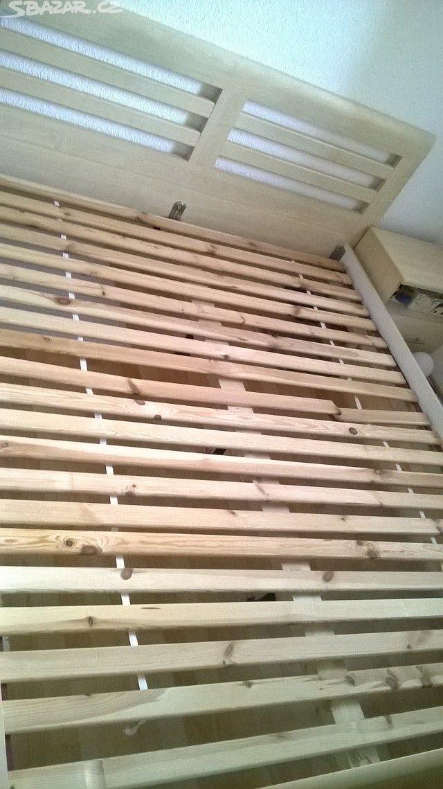 2000 с матрасом Rymarov Prodám postel 160x200cm i s matracema(starší, takže - obrázek číslo 6