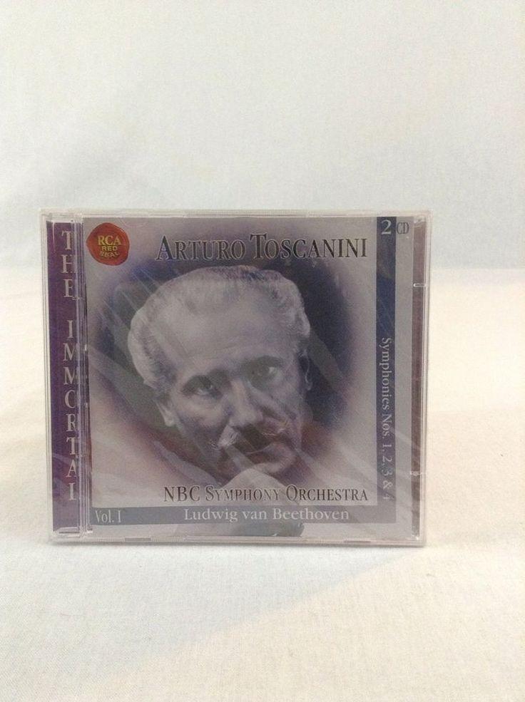 NIP Arturo Toscanini NBC Symphony Orchestra Volume 1 2 CD Disk Set Beethoven #Symphony
