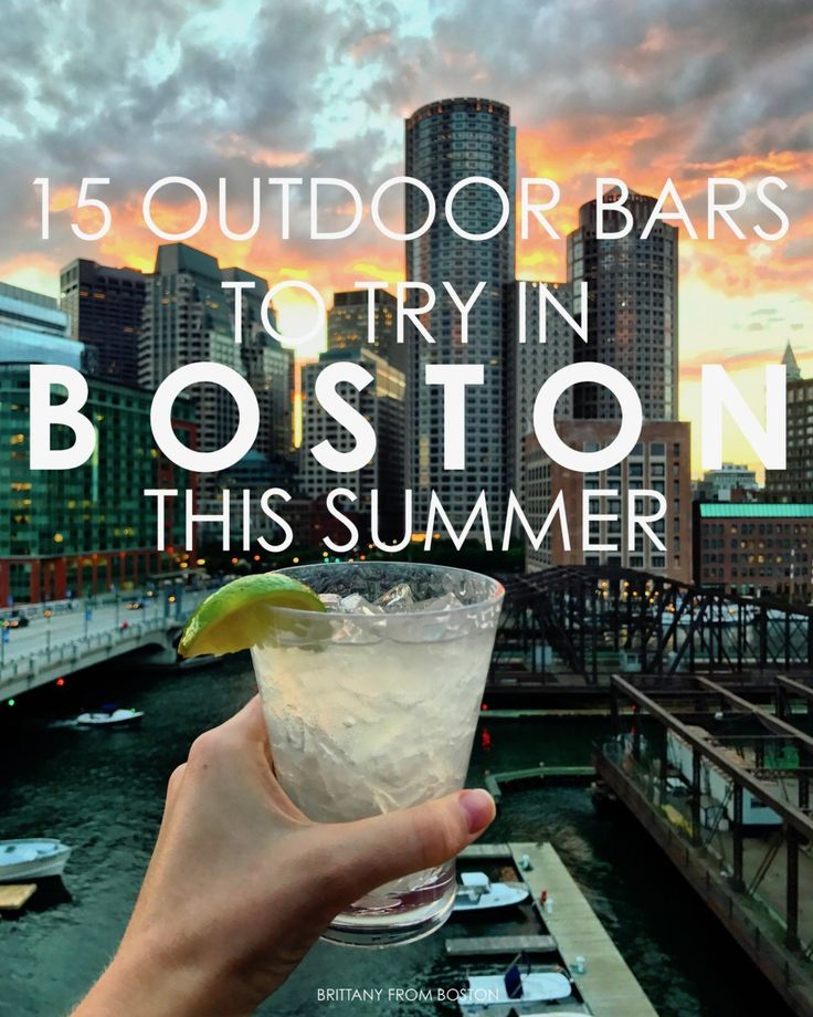 15 Outdoor Bars to Try in Boston This Summer // Brittany from Boston