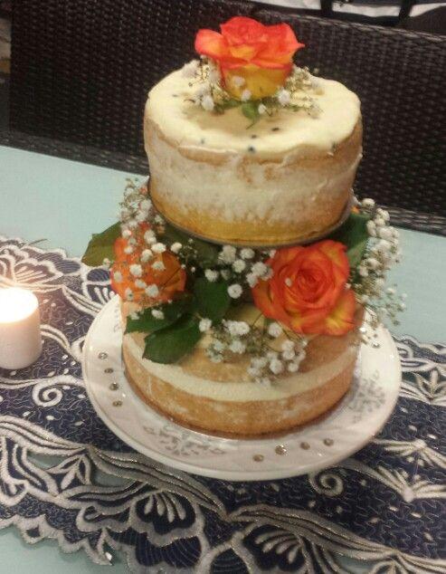 Naked cake | passion fruit sponge cake