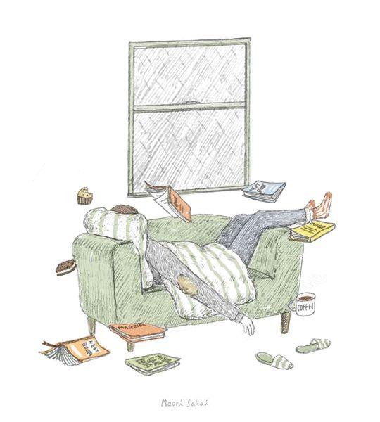 """maorisakai: """"Rainy Day,Books,and Coffee:) """""""