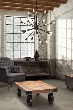 I like the beams, window, chandalier, table, and color hue. chandelier https://www.etsy.com/listing/179401349/the-sez-wall-mailbox-steel-modern-urban?ref=listing-shop-header-0