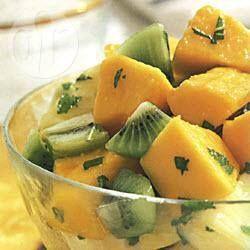 Tropical Fruit Salad with Lime Dressing @ allrecipes.com.au